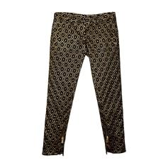 Pantalon slim, cigarette BALMAIN Doré, bronze, cuivre