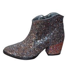 Bottines & low boots à talons ZADIG & VOLTAIRE Argenté, acier