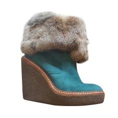 Bottines & low boots à compensés ASH Bleu, bleu marine, bleu turquoise