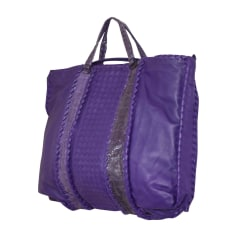 Leather Oversize Bag BOTTEGA VENETA Purple, mauve, lavender