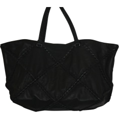 Leather Oversize Bag BOTTEGA VENETA Black