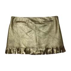 Jupe courte JITROIS Doré, bronze, cuivre
