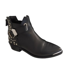 High Heel Ankle Boots ZARA Black