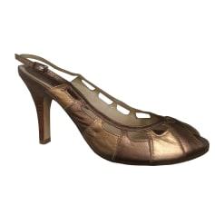 Escarpins à bouts ouverts PASTELLE Doré, bronze, cuivre