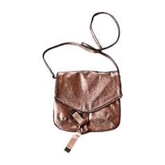 Sac en bandoulière en tissu MANGO Doré, bronze, cuivre