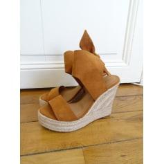 Sandales compensées PIMKIE Beige, camel