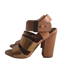 Sandales à talons SAM EDELMAN Beige, camel