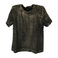 Top, t-shirt BOTTEGA VENETA Black/Gold