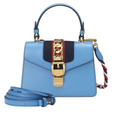 Leather Handbag GUCCI Blue, navy, turquoise