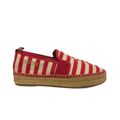 Espadrilles, Slipper GUESS Crème a rayure rouge