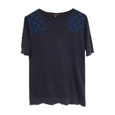 Top, tee-shirt LOUIS VUITTON Bleu, bleu marine, bleu turquoise