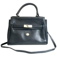Leather Shoulder Bag MAC DOUGLAS Black