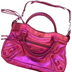 Leather Handbag BALENCIAGA First Pink, fuchsia, light pink