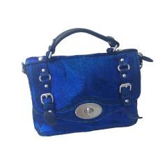 Schultertasche Stoff LANCASTER Blau, marineblau, türkisblau