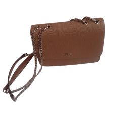 Leather Shoulder Bag GUESS Brown