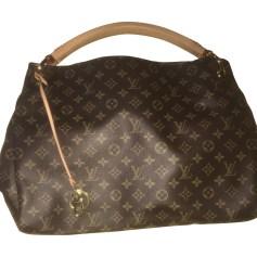 Leather Handbag LOUIS VUITTON Artsy Brown