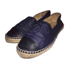 Loafers CHANEL Espadrille Blue, navy, turquoise