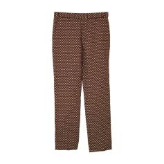 Wide Leg Pants MARNI Gold Brown