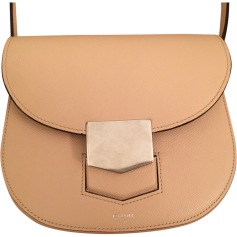 Leather Shoulder Bag CÉLINE Trotteur Pink, fuchsia, light pink