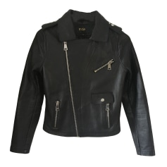 Leather Jacket MAJE Black