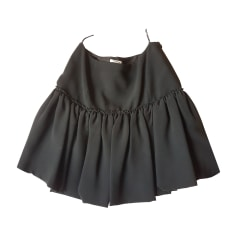 Mini Skirt MIU MIU Black