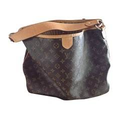 Leather Oversize Bag LOUIS VUITTON Delightful Brown