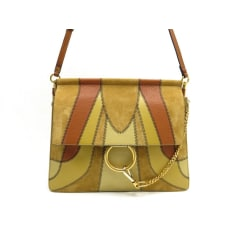 Leather Handbag CHLOÉ Faye Brown