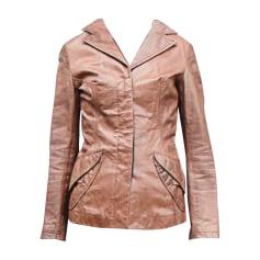 Leather Jacket JUST CAVALLI Brown