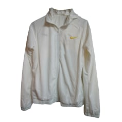 Tracksuit Top NIKE White, off-white, ecru