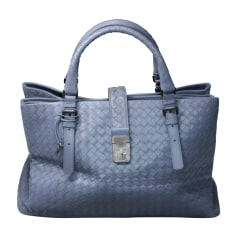 Leather Handbag BOTTEGA VENETA Blue, navy, turquoise