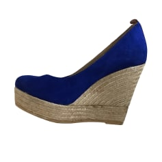 Sandales compensées ANN TUIL Bleu, bleu marine, bleu turquoise