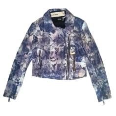 Zipped Jacket DIESEL mauve noir blanc