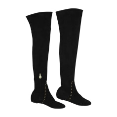 Thigh High Boots CHARLOTTE OLYMPIA Black