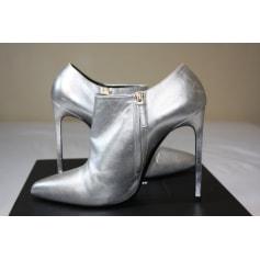 High Heel Boots SAINT LAURENT Silver