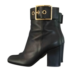 Bottines & low boots à talons GUCCI Noir