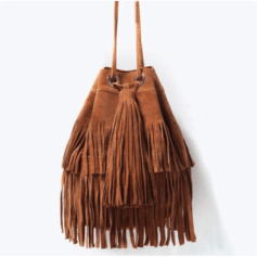 Leather Shoulder Bag ZARA Brown