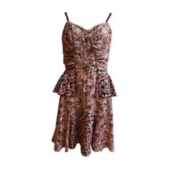 Robe courte ANNA SUI Rose, fuschia, vieux rose
