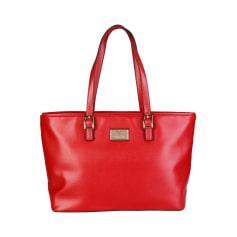 Sac XL en cuir V 19.69 Rouge, bordeaux