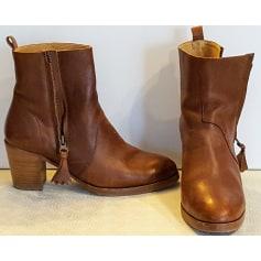 Santiags, bottines, low boots cowboy AIGLE Beige, camel