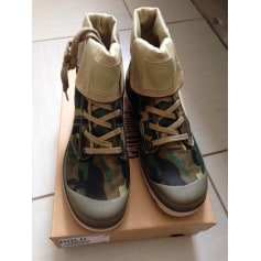 Bottines & low boots plates PALLADIUM Camouflage