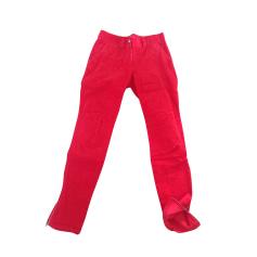 Pantalon slim, cigarette 0039 ITALY Rouge, bordeaux