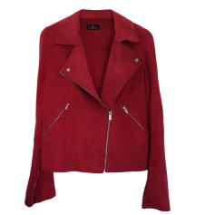 Leather Jacket ONE STEP Red, burgundy
