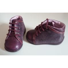 Chaussures à lacets ASTER Rouge, bordeaux