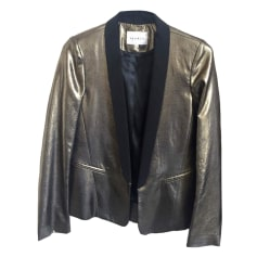 Blazer, veste tailleur SANDRO Doré, bronze, cuivre