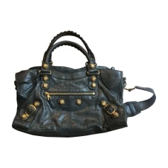 Leather Handbag BALENCIAGA Part Time Black