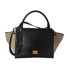 Leather Shoulder Bag CÉLINE Trapèze Blue, navy, turquoise