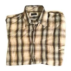 Camicia TRUSSARDI marrone a quadri con sfumature