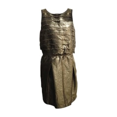 Midi Dress SEE BY CHLOE Golden, bronze, copper