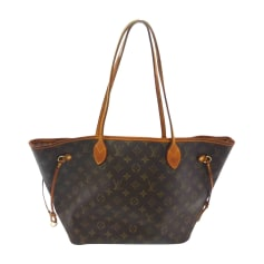Leather Oversize Bag LOUIS VUITTON Neverfull Brown