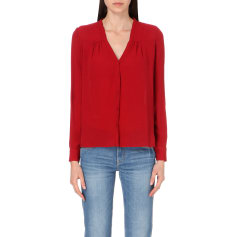 Blouse MAJE Red, burgundy
